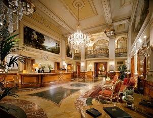 Шикарный зал сетевого отеля